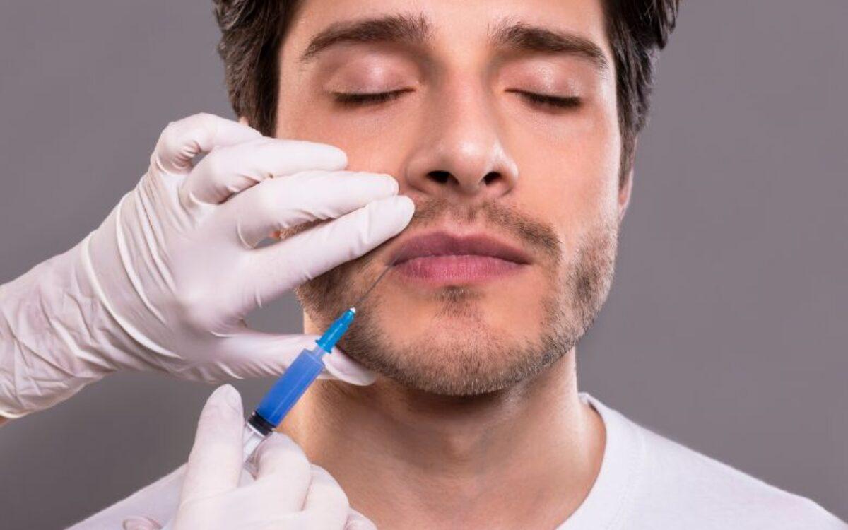 aplicacion de inyeccion para aumento de labios en hombre