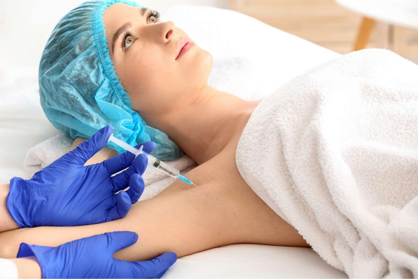 inyección en axila para tratamiento de hiperhidrosis